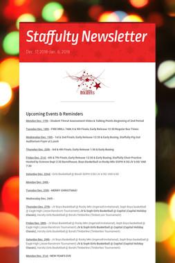 Staffulty Newsletter