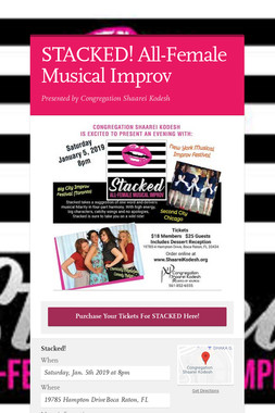 STACKED! All-Female Musical Improv