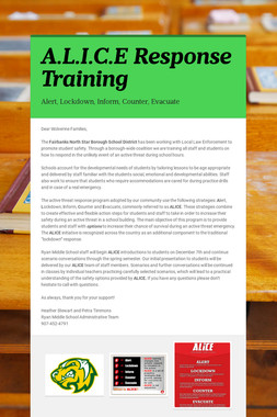 A.L.I.C.E Response Training