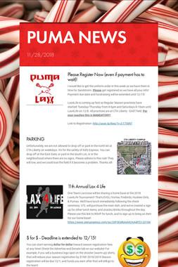 PUMA NEWS