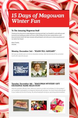 15 Days of Magowan Winter Fun