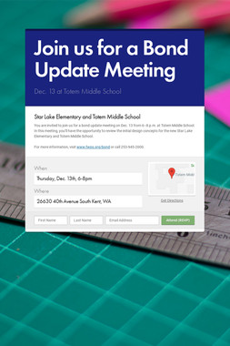 Join us for a Bond Update Meeting