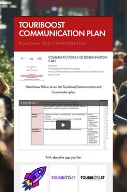 TOURIBOOST COMMUNICATION PLAN