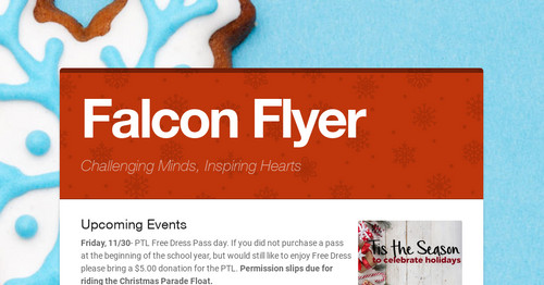 Falcon Flyer | Smore Newsletters for Education