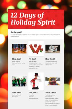 12 Days of Holiday Spirit