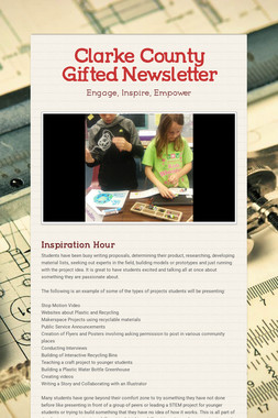Clarke County Gifted Newsletter