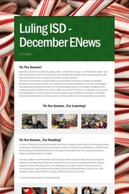 Luling ISD - December ENews