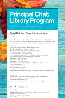 Principal Chat: Library Program