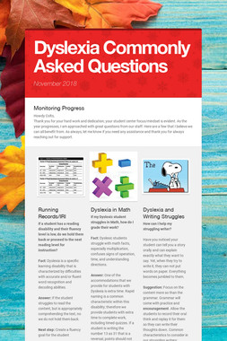 Dyslexia Commonly Asked Questions
