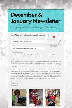 December & January Newsletter