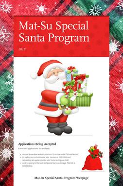 Mat-Su Special Santa Program