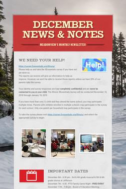 December News & Notes