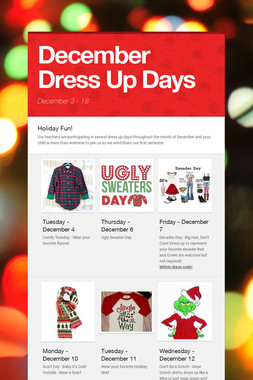 December Dress Up Days