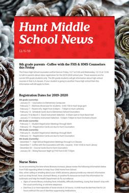 Hunt Middle School News
