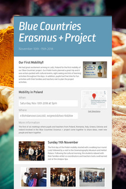 Blue Countries Erasmus + Project