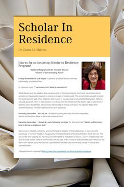 Scholar In Residence