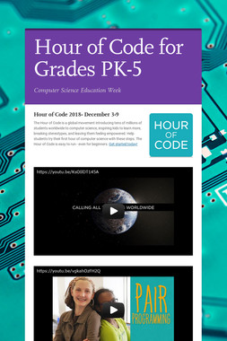 Hour of Code for Grades PK-5