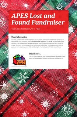 APES Lost and Found Fundraiser