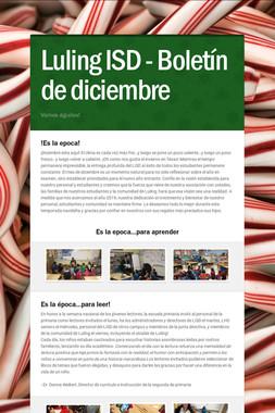Luling ISD - Boletín de diciembre