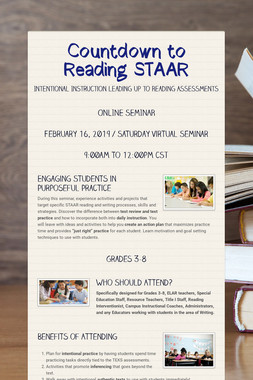 Countdown to Reading STAAR