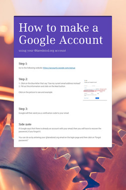 How to make a Google Account