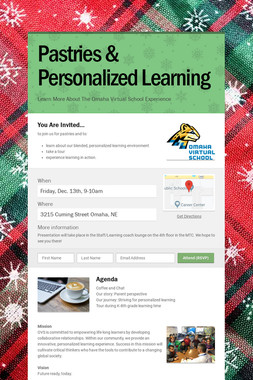 Pastries & Personalized Learning