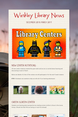 Winkley Library News