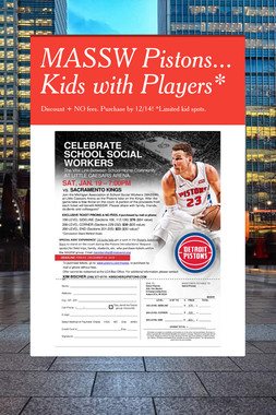 MASSW Pistons... Kids with Players*