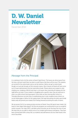 D. W. Daniel Newsletter