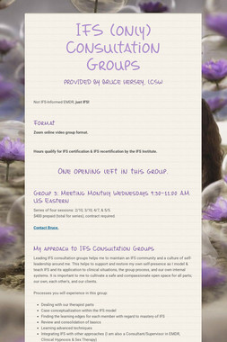 IFS Consultation Group Opening