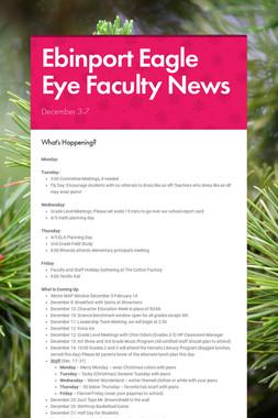 Ebinport Eagle Eye Faculty News