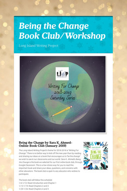 Being the Change Book Club/Workshop