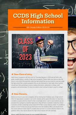 CCDS High School Information
