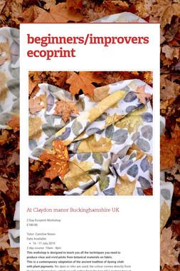 beginners/improvers   ecoprint