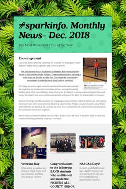 #sparkinfo. Monthly News- Dec. 2018