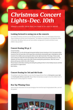 Christmas Concert Lights-Dec. 10th