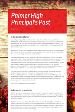 Palmer High Principal's Post