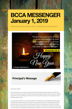 BCCA MESSENGER  January 1, 2019