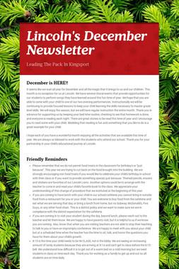 Lincoln's December Newsletter