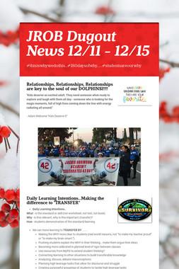 JROB Dugout News 12/11 - 12/15