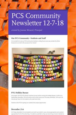 PCS Community Newsletter 12-7-18
