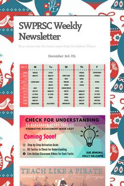 SWPRSC Weekly Newsletter