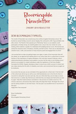 Bloomingdale Newsletter