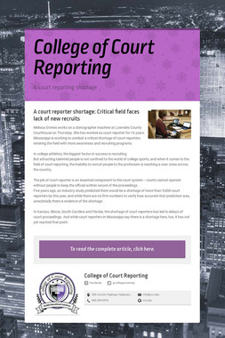 College of Court Reporting
