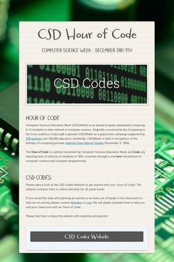 CSD Hour of Code
