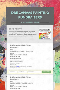 DBE Canvas Painting Fundraisers
