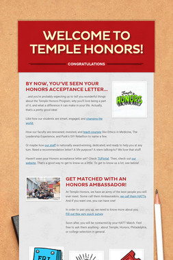 Welcome to Temple Honors!