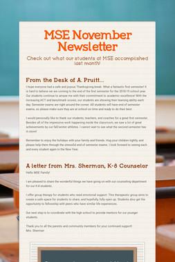 MSE November Newsletter