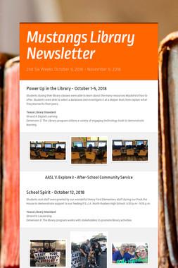 Mustangs Library Newsletter