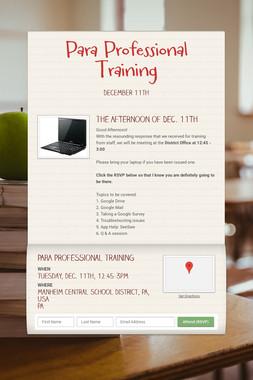 Para Professional Training